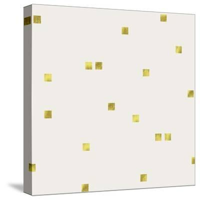 Light Cream Golden Squares Confetti-Tina Lavoie-Stretched Canvas Print