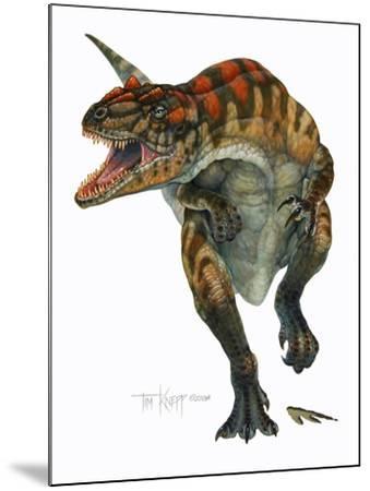 Allosaurus-Tim Knepp-Mounted Giclee Print