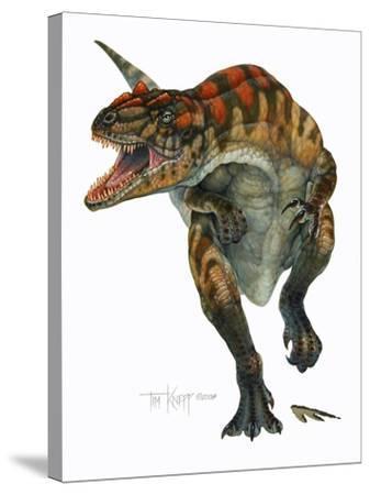 Allosaurus-Tim Knepp-Stretched Canvas Print