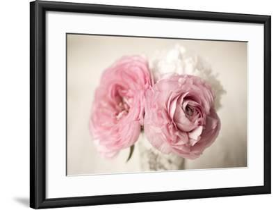 Ranuncula Pink Vase-Symposium Design-Framed Giclee Print