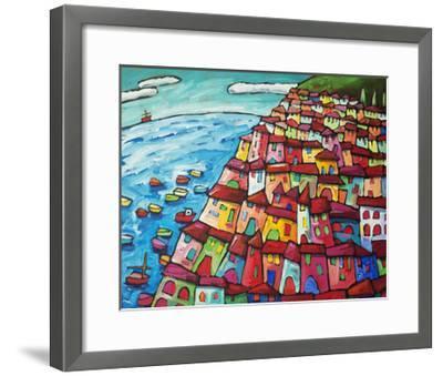 Cinque Terre, Amalfi Coast - Italy-Sara Catena-Framed Giclee Print