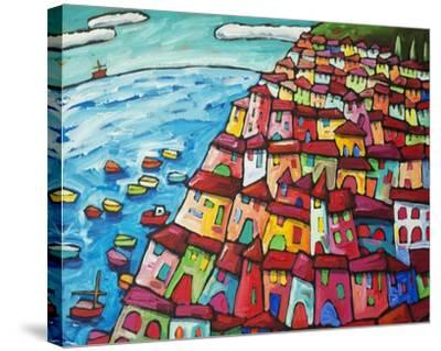 Cinque Terre, Amalfi Coast - Italy-Sara Catena-Stretched Canvas Print