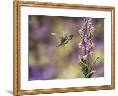 Spring Hummingbird-Sarah Davis-Framed Giclee Print