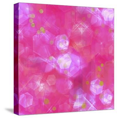 Glitter Love Pink Pattern-Tina Lavoie-Stretched Canvas Print