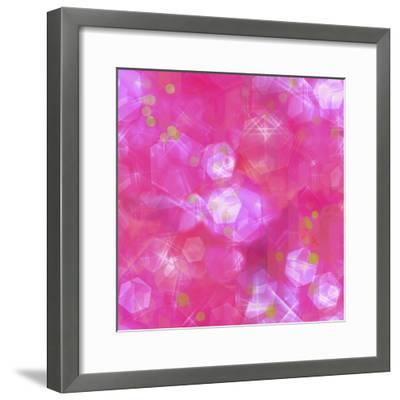 Glitter Love Pink Pattern-Tina Lavoie-Framed Giclee Print