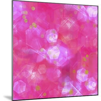 Glitter Love Pink Pattern-Tina Lavoie-Mounted Giclee Print