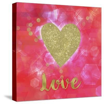 Glitter Love-Tina Lavoie-Stretched Canvas Print