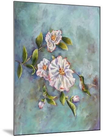 Hummingbird with Camellias-Sarah Davis-Mounted Giclee Print