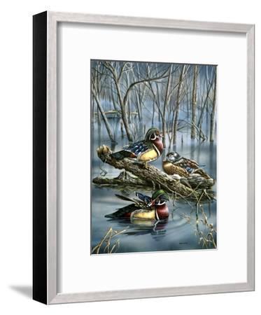 Misty Woodducks-Wanda Mumm-Framed Giclee Print