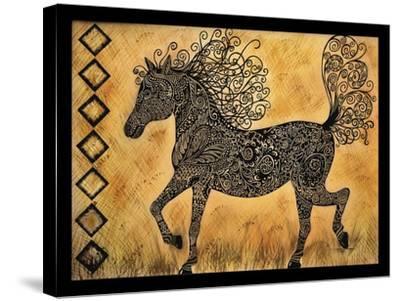 Horse-Tina Nichols-Stretched Canvas Print