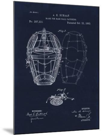 Mask for Baseball Catcher-Tina Lavoie-Mounted Giclee Print