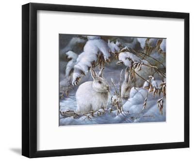 Winter Hares-Wanda Mumm-Framed Giclee Print