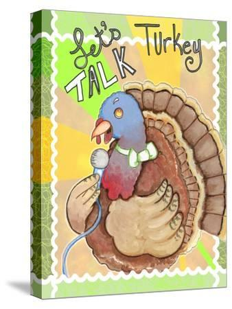 Talking Turkey-Valarie Wade-Stretched Canvas Print