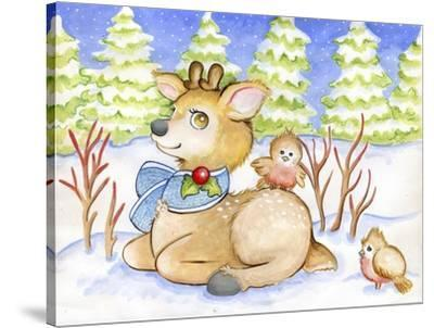 Winter Friends-Valarie Wade-Stretched Canvas Print
