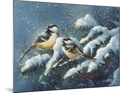 December Chickadees-Wanda Mumm-Mounted Giclee Print