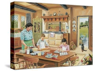 A Cottage Kitchen-Trevor Mitchell-Stretched Canvas Print