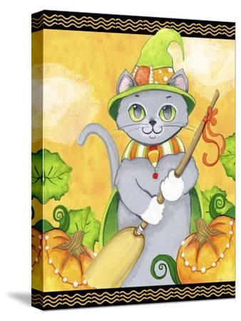 Witchy Cat-Valarie Wade-Stretched Canvas Print