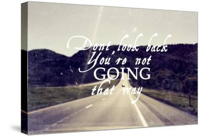 Dont Look Back-Vintage Skies-Stretched Canvas Print