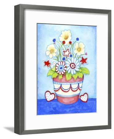 Red Flower Pot-Valarie Wade-Framed Giclee Print