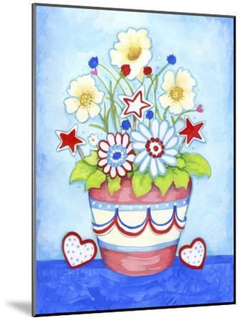Red Flower Pot-Valarie Wade-Mounted Giclee Print