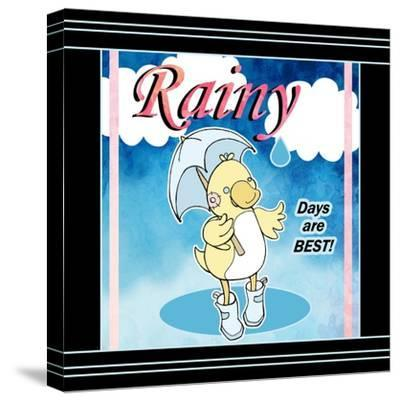 Rainy Days-Valarie Wade-Stretched Canvas Print