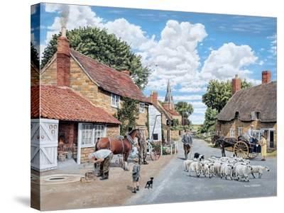 The Village Farrier-Trevor Mitchell-Stretched Canvas Print
