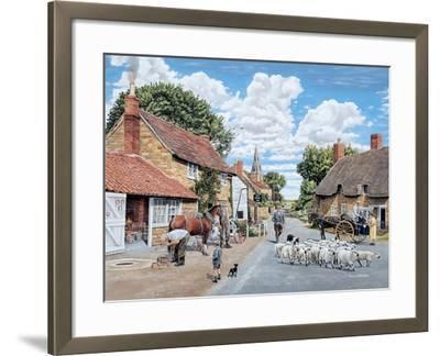 The Village Farrier-Trevor Mitchell-Framed Giclee Print