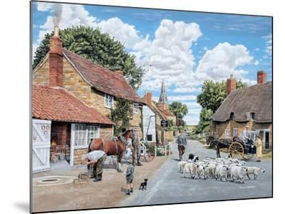 The Village Farrier-Trevor Mitchell-Mounted Giclee Print