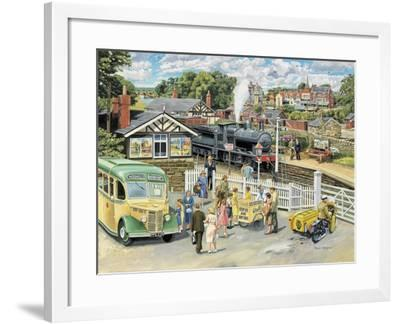 At the Station-Trevor Mitchell-Framed Giclee Print