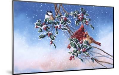 Cardinals and Chickadee-Wanda Mumm-Mounted Giclee Print