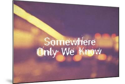 Somewhere Only We Know II-Vintage Skies-Mounted Giclee Print