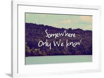Somewhere Only We Know I-Vintage Skies-Framed Giclee Print