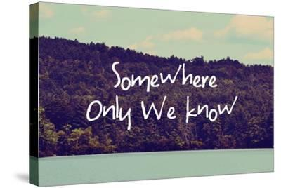Somewhere Only We Know I-Vintage Skies-Stretched Canvas Print