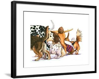 Dog Tails-Wendy Edelson-Framed Giclee Print