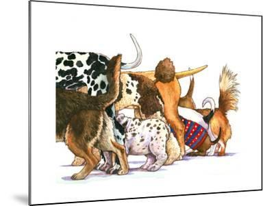 Dog Tails-Wendy Edelson-Mounted Giclee Print