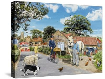 Post for the Farm-Trevor Mitchell-Stretched Canvas Print