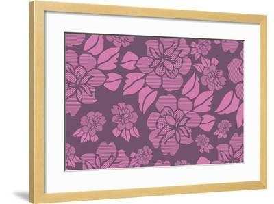Floral Pattern-Whoartnow-Framed Giclee Print