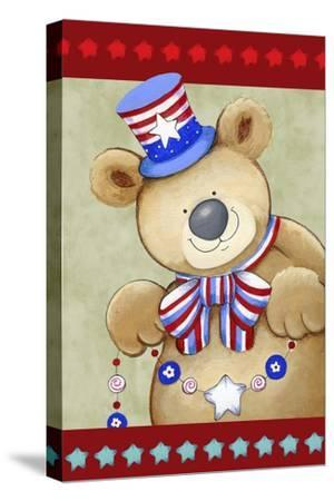 Stars and Stripes Bear-Valarie Wade-Stretched Canvas Print