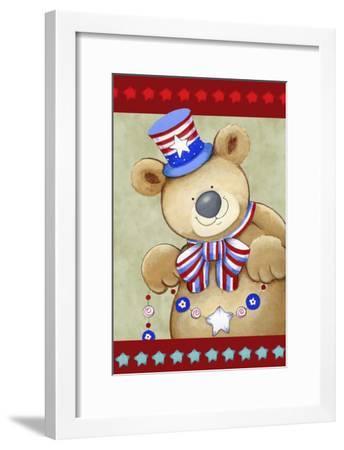 Stars and Stripes Bear-Valarie Wade-Framed Giclee Print
