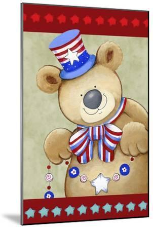Stars and Stripes Bear-Valarie Wade-Mounted Giclee Print