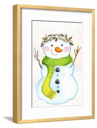 Green Scarf-Valarie Wade-Framed Giclee Print