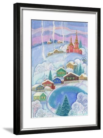 Cottages under the Snow Cabin-ZPR Int'L-Framed Giclee Print