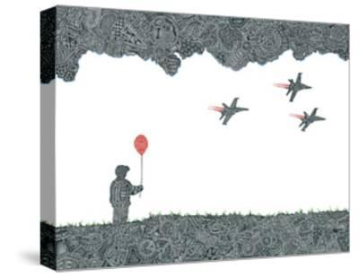 Childhood Dreams-Viz Art Ink-Stretched Canvas Print