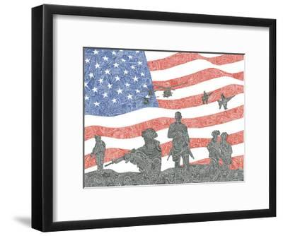 American Heroes-Viz Art Ink-Framed Giclee Print