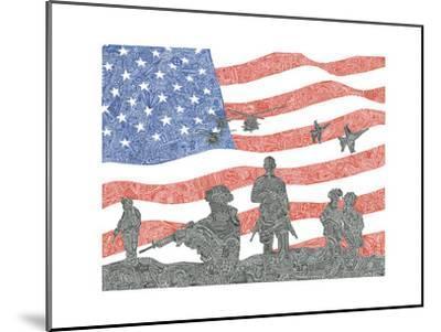 American Heroes-Viz Art Ink-Mounted Giclee Print