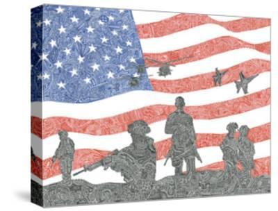 American Heroes-Viz Art Ink-Stretched Canvas Print