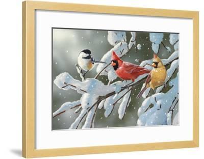 Heavy Snowfall-William Vanderdasson-Framed Giclee Print