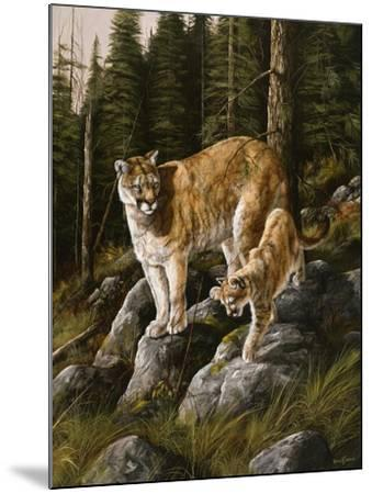 Mother and Child (Mt. Lions)-Trevor V. Swanson-Mounted Giclee Print