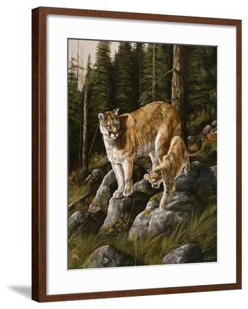 Mother and Child (Mt. Lions)-Trevor V. Swanson-Framed Giclee Print