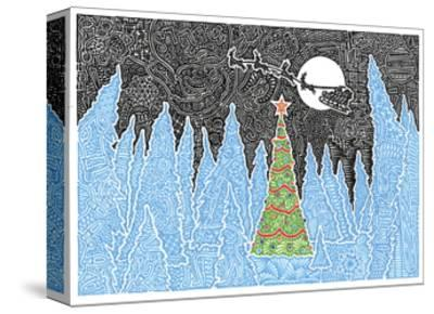 White Christmas-Viz Art Ink-Stretched Canvas Print